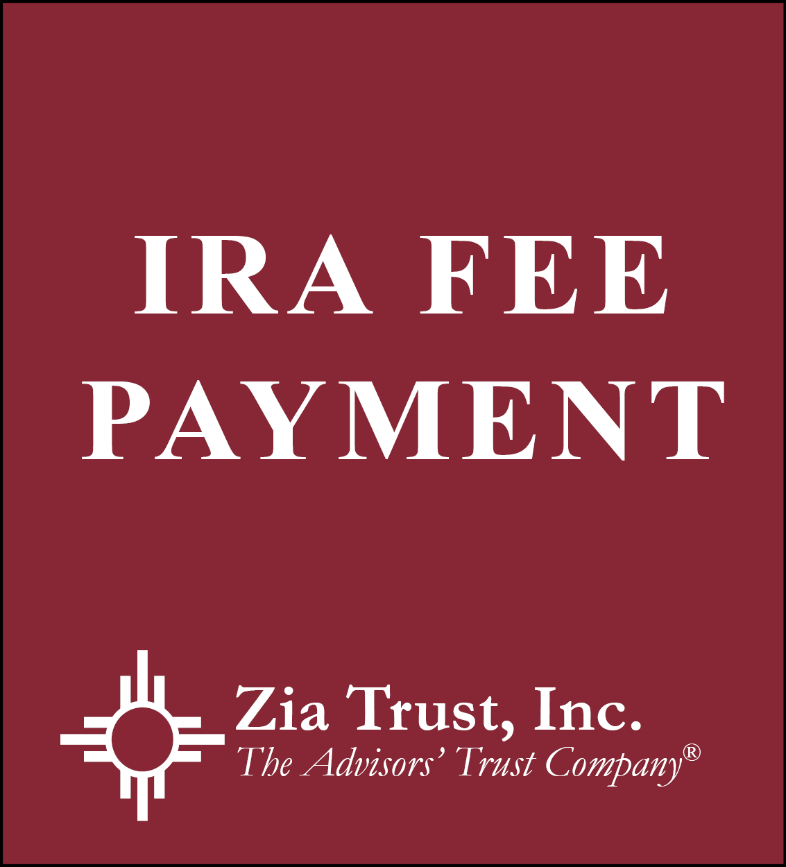 Ira Fee Payment
